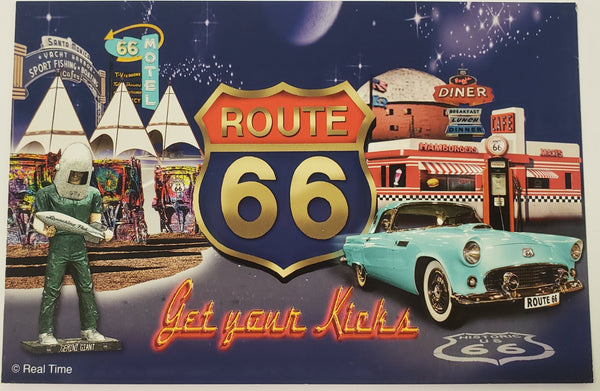 Route 66 Get Your kicks Blue Background