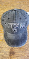 Route 66 black/gray Acid Washed Hat