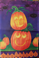 Pumpkins and Spiders garden flag