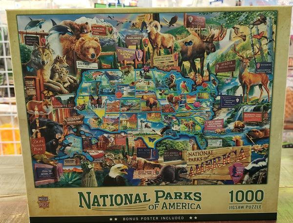 NATIONAL PARKS OF AMERICA 1000 PIECE JIGSAW PUZZLE