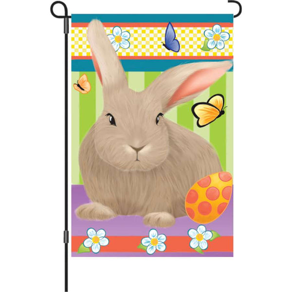 12 in. Flag - Hip Hop Bunny garden flag