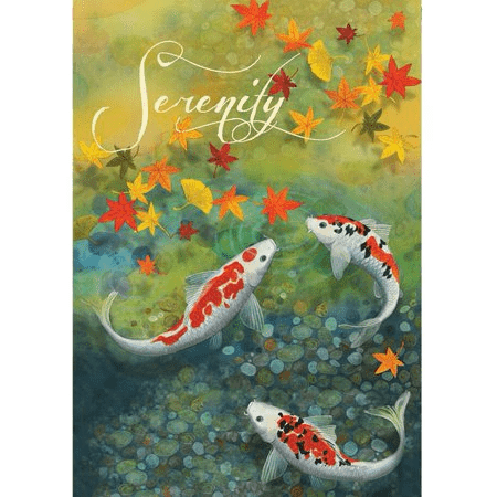 Autumn Pond Garden Flag