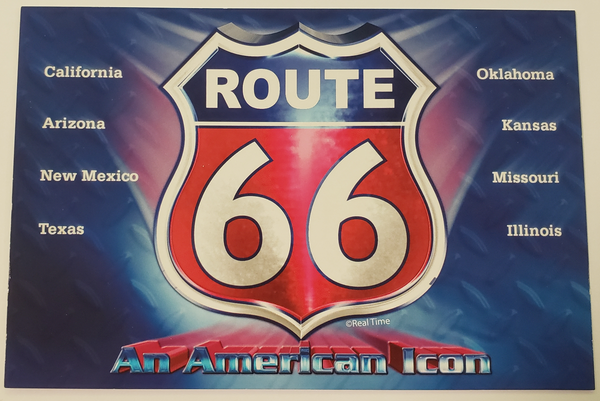 Route 66 An American Icon Postcard