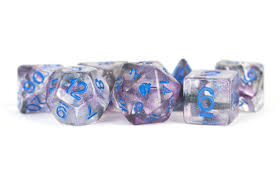 16 mm Resin Poly Dice Set Unicorn Stellar Storm