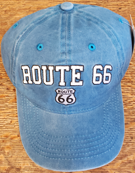 Route 66 Blue Acid Washed Hat