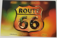 Route 66 All States Shimmery Postcard