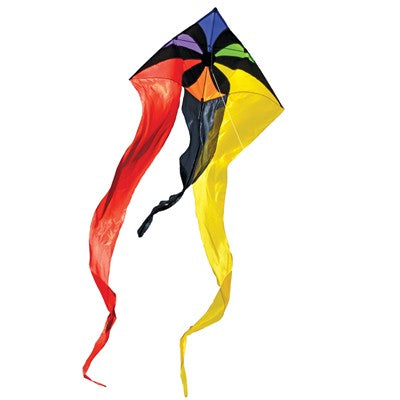 "Rainbow Flux 52"" Wave Delta Kite"