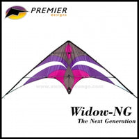 "96"" PURPLE & GRAY WIDOW NG STUNT KITE"