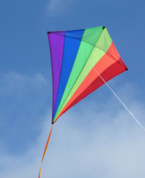 Giant Rainbow Diamond Kite. 5 feet Tall!