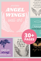 Angel Wings Wall Art Printables {30+ Pages}