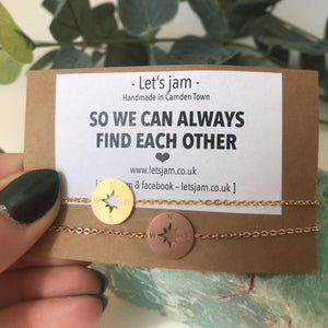 Matching Bracelets • So We Can Always Find Each Other • Set of 2