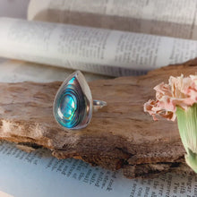 Load and play video in Gallery viewer, Ring • Drop Shape • 925 Sterling Silver with Abalone