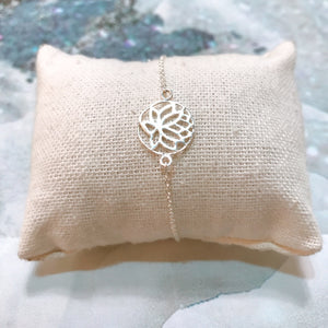Bracelet ❥ Lotus Flower - 925 Sterling Silver Collection
