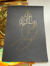 Load image into Gallery viewer, Prints ❥ One Line Buddha's Hand