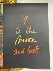 Prints ❥ Love You to the Moon and Back