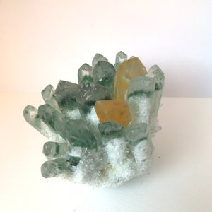 Crystal • Green & Yellow Phantom Quartz • Cluster