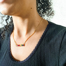 Load image into Gallery viewer, Crystals Rainbow Chakra Necklace