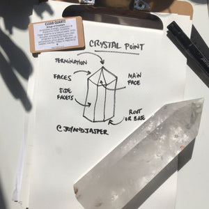 Crystal Point ⟁ Clear Quartz • Unique Piece (Large Size)