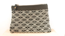 Load image into Gallery viewer, Leather Clutch Marina • Unique & Handmade • Pocket • Purse • White & Black