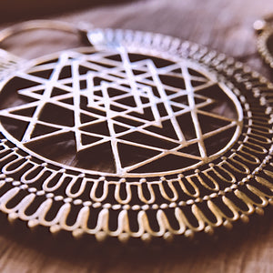 Ethnic Earrings • Sri Yantra