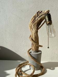 Lamp ❥ One of a Kind • Concrete & Wood #1