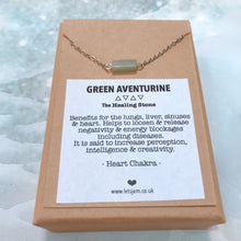 Load image into Gallery viewer, Aventurine ❥ Meaningful Necklace Collection