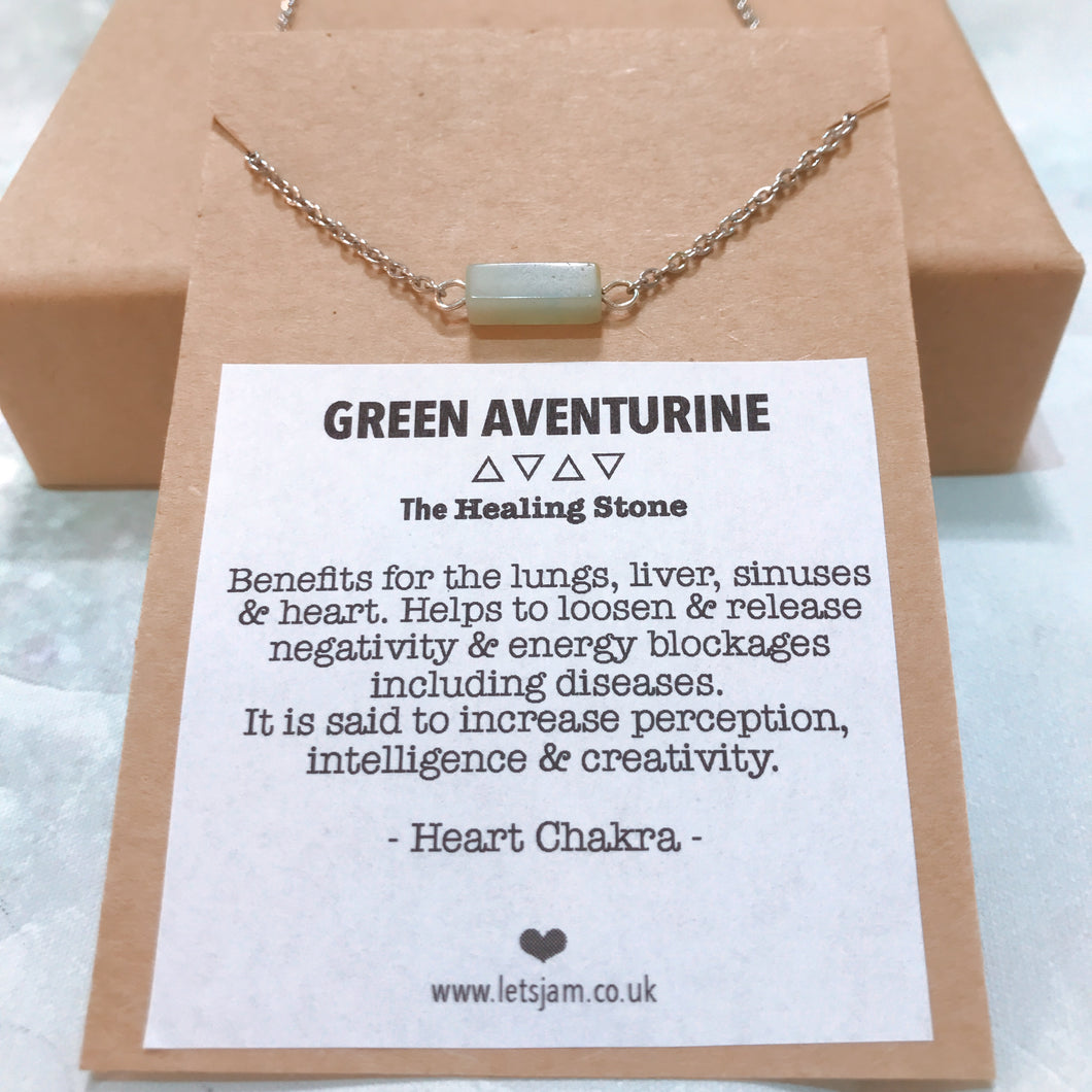 Aventurine ❥ Meaningful Necklace Collection