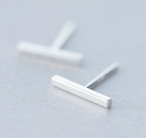 Stud Earrings • Sterling Silver • Bars