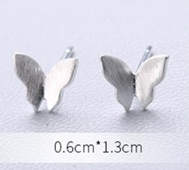 Stud Earrings • Sterling Silver • Butterfly