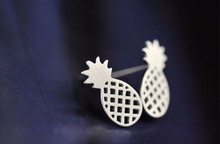 Load image into Gallery viewer, Stud Earrings • Sterling Silver • Pineapple