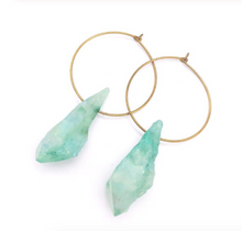 Load image into Gallery viewer, Earrings Lilly • Real Raw Rock Quartz / Healing Jewellery