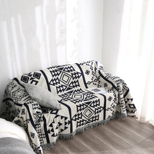 Throw Zyanya • Bed Cover • Sofa Blanket ▷ Aztec Blue