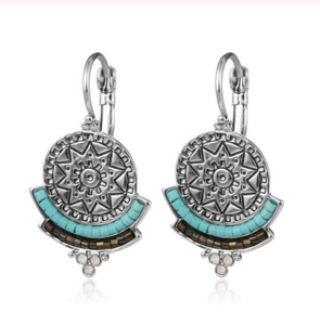 Clip Earrings - Aztec