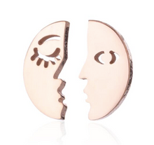 Load image into Gallery viewer, Stud Earrings • Minimal • Moon Face & Sun Face
