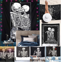 Load image into Gallery viewer, Tapestry • Wall Decor • Kissing Skeletons