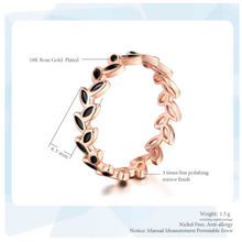 Load image into Gallery viewer, Ring • Rose Gold Leaf