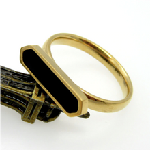 Load image into Gallery viewer, Ring • Stainless Steel • Black Enamel