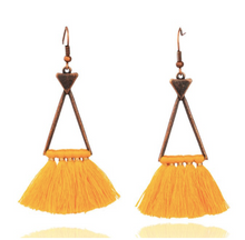 Load image into Gallery viewer, Cotton • PomPom • Angelique Earrings