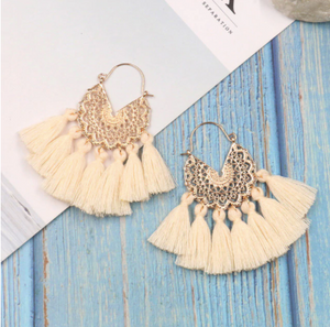 Cotton • PomPom • Victoire Earrings