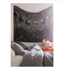 Load image into Gallery viewer, Tapestry • Wall Decor • Moon Phases in Starry Sky