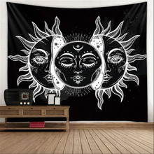 Load image into Gallery viewer, Tapestry • Wall Decor • Moon & Sun