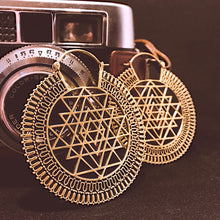 Load image into Gallery viewer, Ethnic Earrings • Sri Yantra