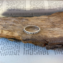Load image into Gallery viewer, Silver Ring • Studs with Oxydation • 925 Sterling Silver