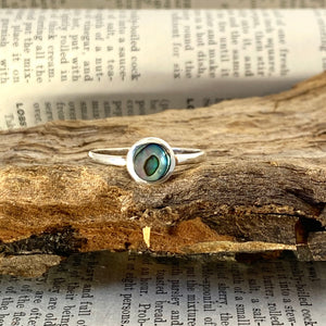 Silver Ring • Abalone • 925 Sterling Silver