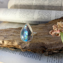 Load image into Gallery viewer, Ring • Drop Shape • 925 Sterling Silver with Abalone