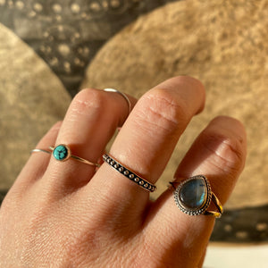 Turquoise Ring • Sterling Silver • One Of a Kind Collection • T-7-1