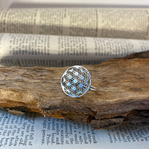 Silver Ring • Flower of Life • 925 Sterling Silver