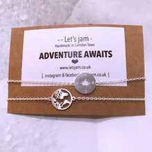 Load image into Gallery viewer, Adventure Awaits ❥ Set of 2 Bracelets