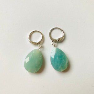 Faceted Amazonite ❥ Drop Earrings