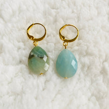 Load image into Gallery viewer, Faceted Amazonite ❥ Drop Earrings